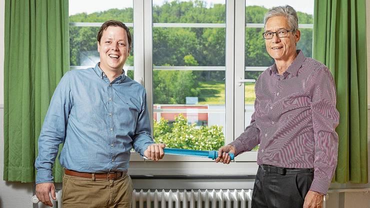 Matthias Däster (l.) hat Anfang Juni die operative Führung von Werner Bünzli übernommen.