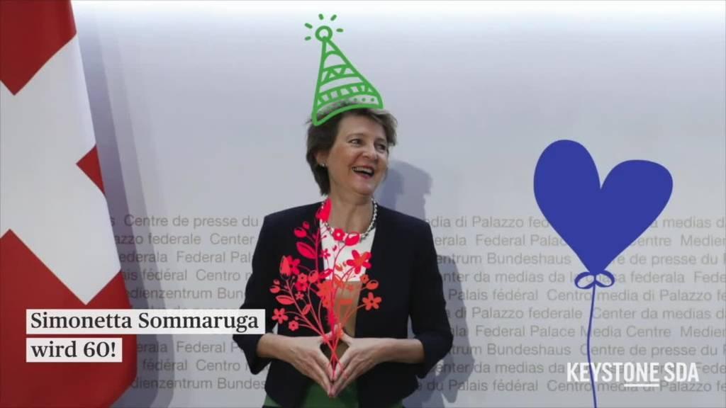 Bundespräsidentin Sommaruga feiert ihren 60. Geburtstag