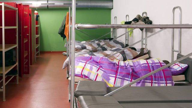 Blick auf eine Asylunterkunft (Symbolbild)