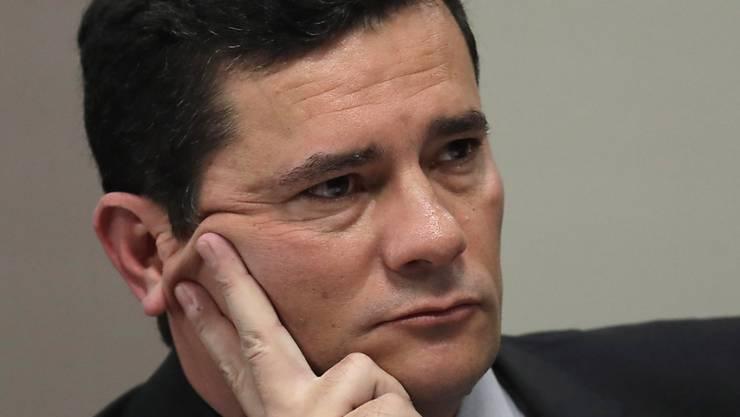 Hackerattacke auf das Mobiltelefon: Brasiliens Justizminister Sergio Moro. (Archivbild)
