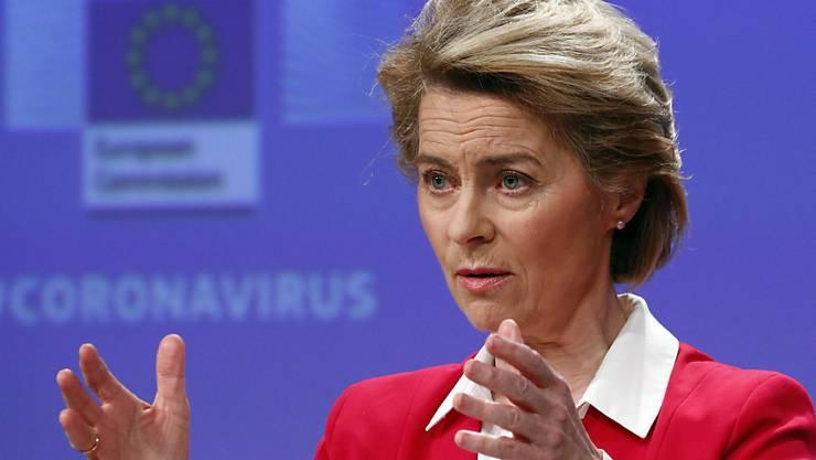 Die EU-Kommissionspräsidentin Ursula von der Leyen fordert angesichts der Coronakrise einen Marshallplan für Europa. (Archivbild)