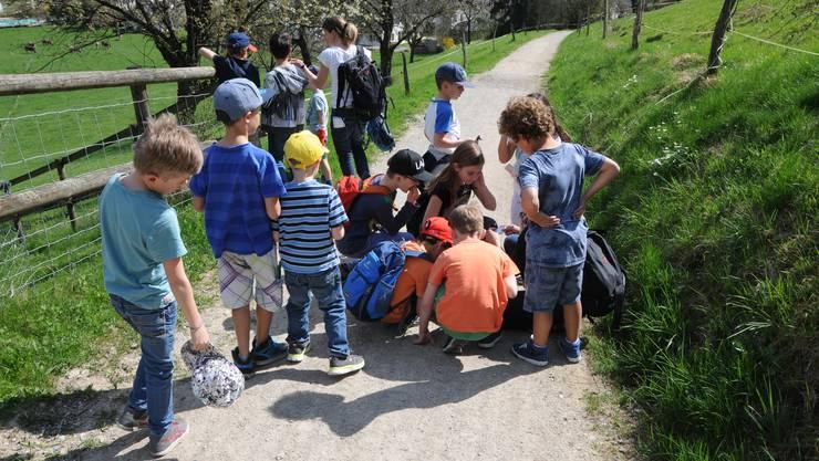 Elternverein Weiningen Plauschnachmittag Kinder Schnitzeljagd