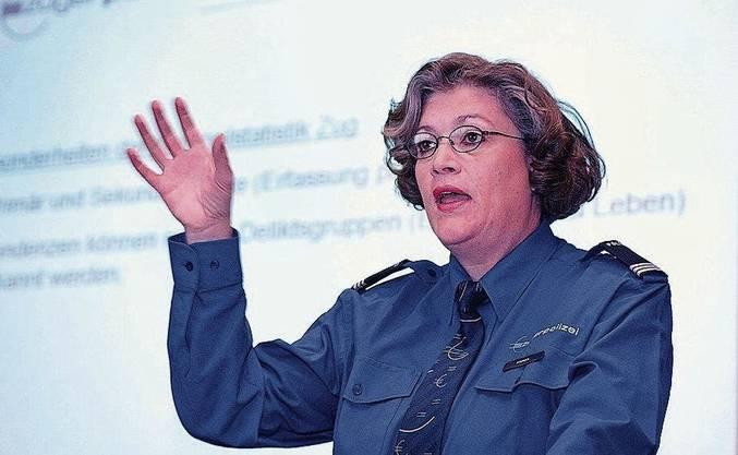 Sie war Chefin der Kriminalpolizei in Zug: Silvia Steiner im Jahr 2005.