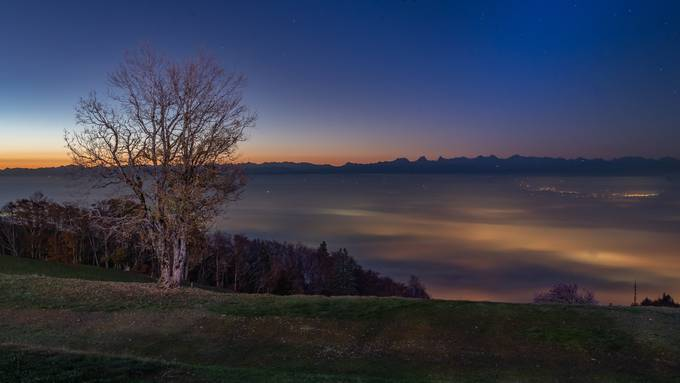 Traumhafter Morgen vor dem Sonnenaufgang auf dem schönen Weissenstein - Samstag 26. Oktober 2019