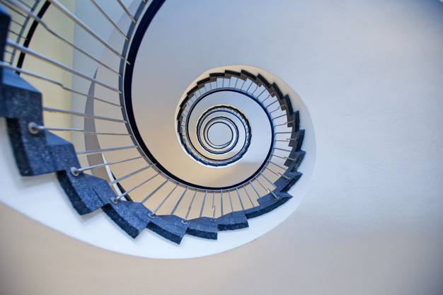 Blick ins faszinierende Treppenhaus