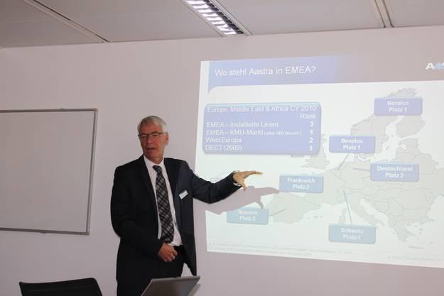 Ulrich Blatter, Managing Director von Aastra Telecom
