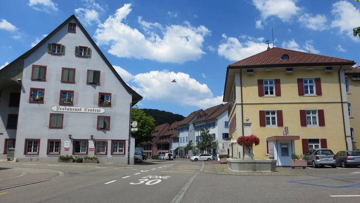 Der Dorfplatz von Frenkendorf, hier in der Regel die 1. August Feier. Dieses Jahr nicht.