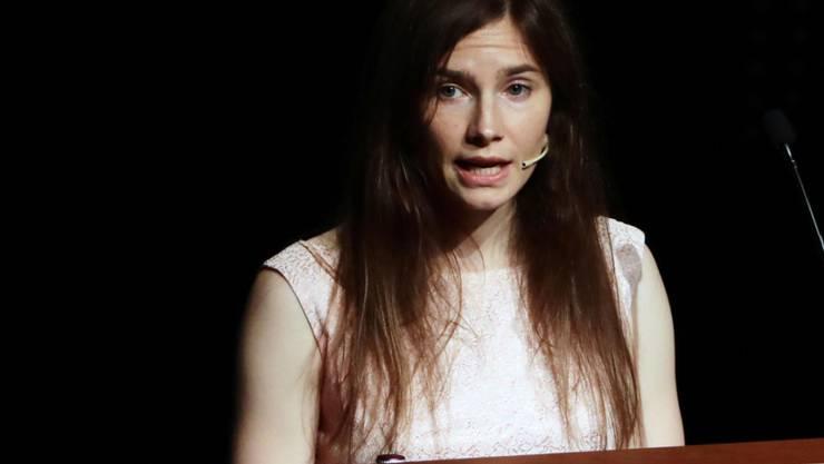 Italien muss der US-Amerikanerin Amanda Knox 10'400 Euro Entschädigung zahlen. Das beschloss der Europäische Gerichtshof für Menschenrechte (EGMR) in Strassburg, (Archivbild)