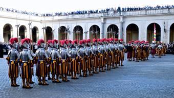 Vereidigung der Schweizer Gardisten in Rom am sogenannten Sacco die Roma.