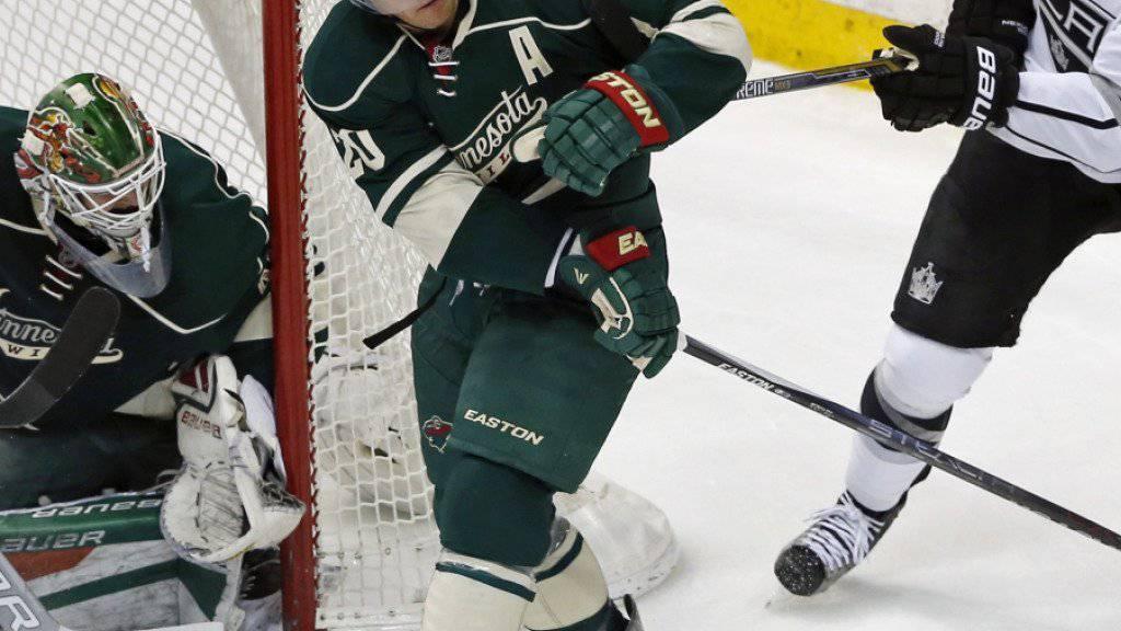 Minnesotas Goalie Devan Dubnyk zeigte beim 2:1-Sieg gegen die Los Angeles Kings 38 Paraden
