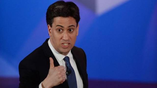 Ed Miliband  bei seinem Auftritt im britischen Fernsehen