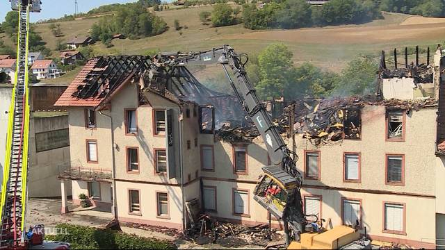 Grossbrand in the ribbon factory of Herznacher claims a death toll