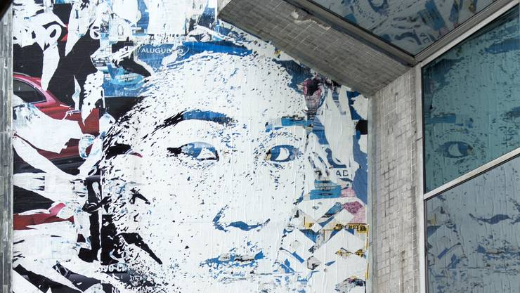 Streetart im Affichisten Stil.