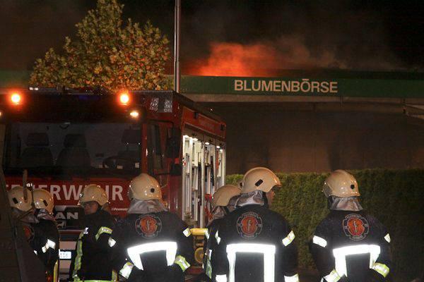 Brand der Berner Blumenbörse