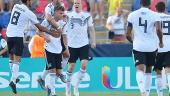 Luca Waldschmidt (7) erzielte zwei weitere Tore im Halbfinal