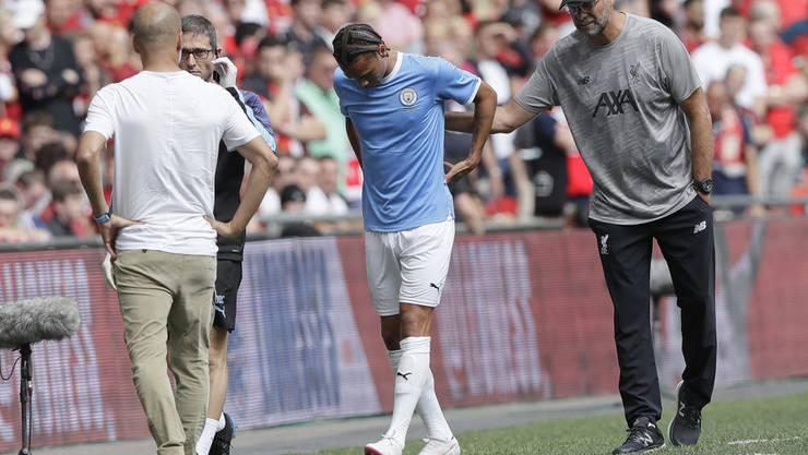 Humpelt verletzt vom Platz: Leroy Sané
