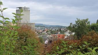 Blick über Villmergen von der katholischen Kirche aus.
