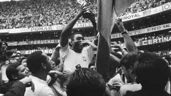 Mit Brasilien gewann Pelé drei WM-Titel, den letzten 1970 in Mexiko