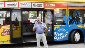 Gemeindeammann Roland Kuster unternimmt mit dem «Atmosphäre»-Bus eine letzte Fahrt.