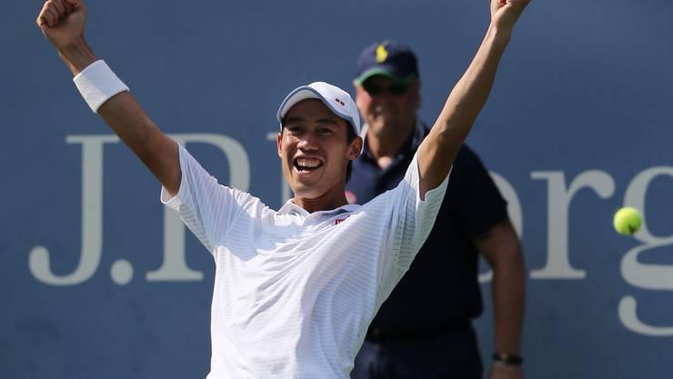 Der Japaner zog bei den US Open in New York als erster Asiate ins Endspiel eines Grand-Slam-Turniers ein.