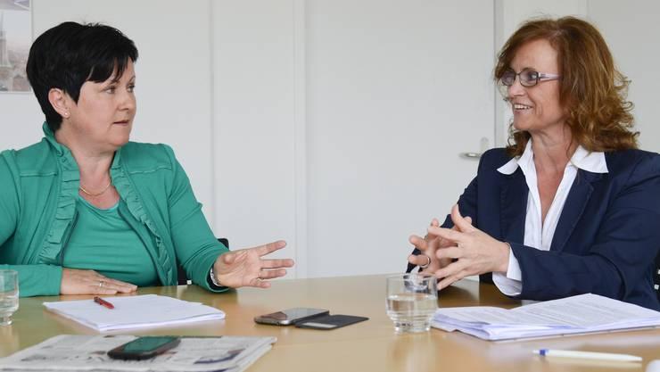 Marianne Meister und Bernadette Rickenbacher.