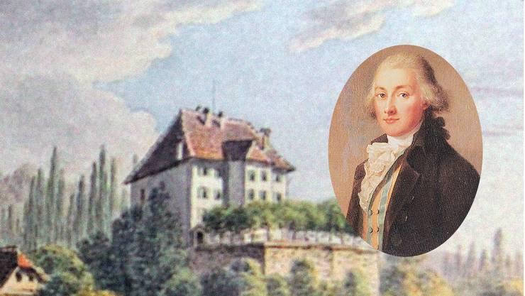 Das Schloss Rued zur Zeit Carl Friedrich Rudolf Mays von Rued.