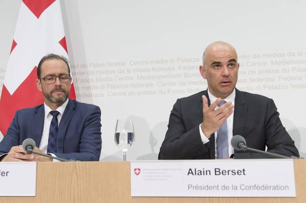 Alain Berset am Mittwoch vor den Medien.
