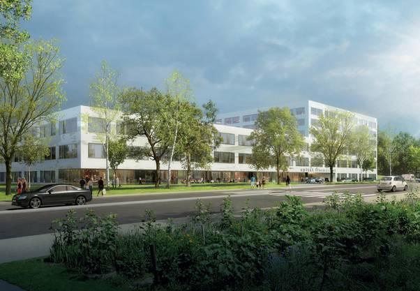 Visualisierung des neuen Spitalgebäudes in Schlieren: Bis 2018 soll es gebaut sein. Die Kosten liegen bei 270 Millionen Franken.