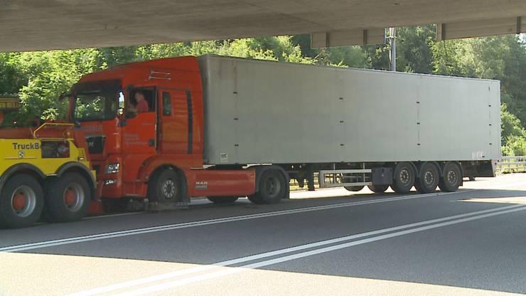 Der Lastwagen-Fahrer blieb unverletzt