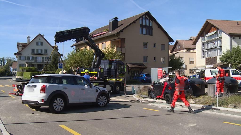 Männedorf (ZH): Schwerer Verkehrsunfall fordert zwei Verletzte