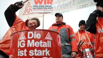 Erkämpfte 3,4 Prozent mehr Lohn: deutsche IG Metall (Archiv)