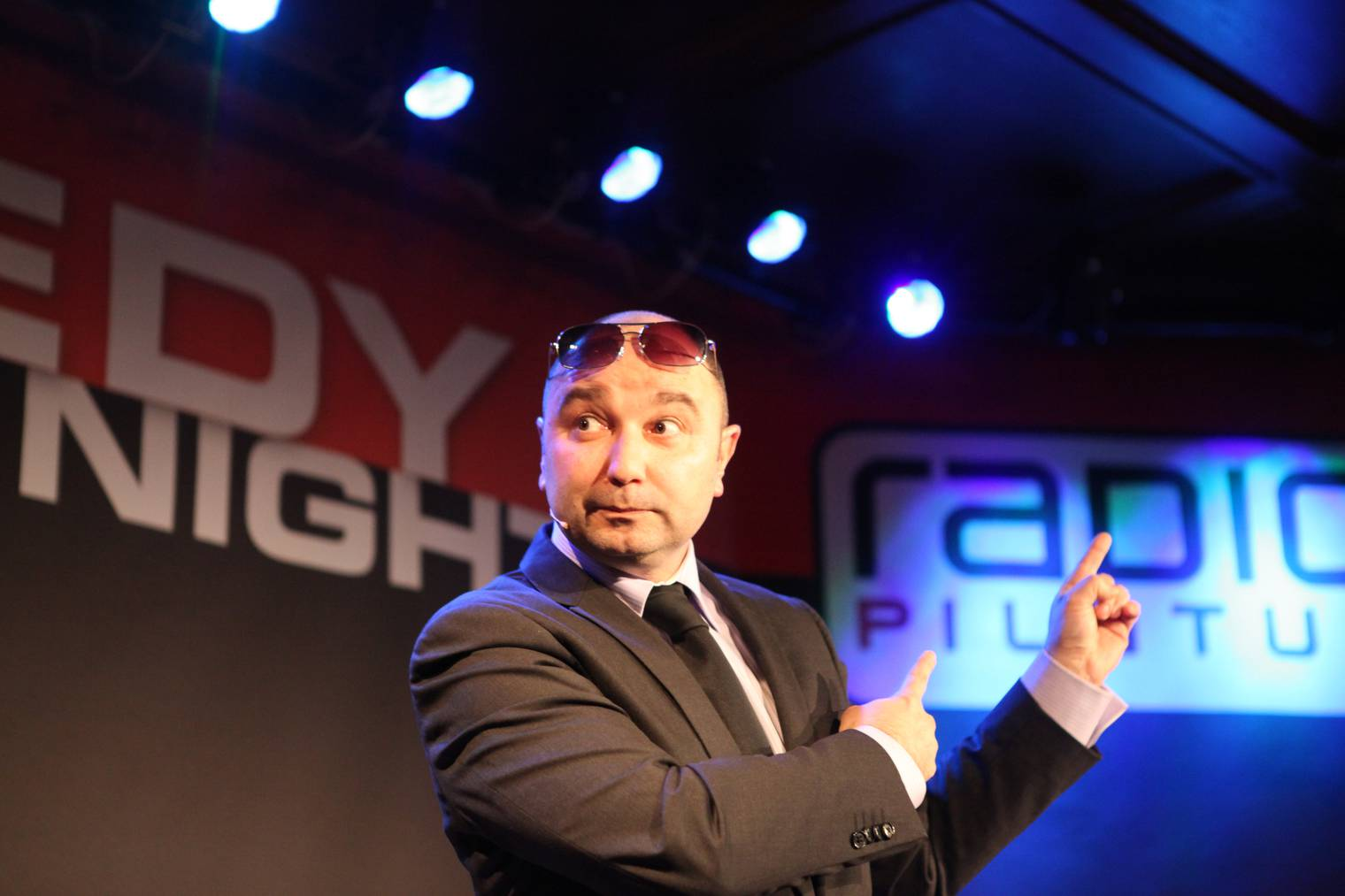 04.02.2014: Sergio Sardella an der Radio Pilatus Comedy Night 2014 im Stadtkeller.
