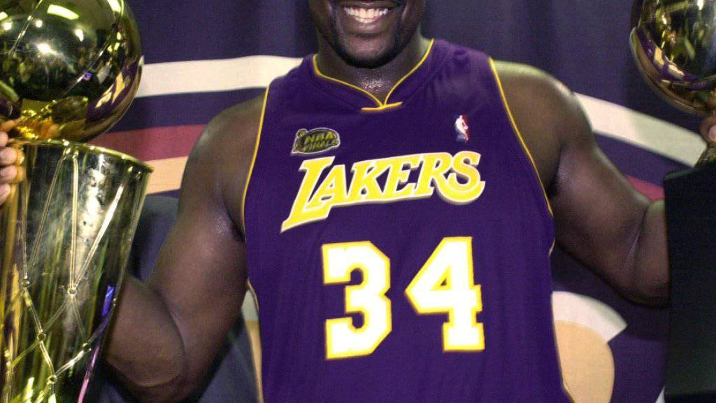 Shaquille O'Neal wurde zwischen 2000 und 2002 mit den Los Angeles Lakers dreimal in Folge NBA-Champion