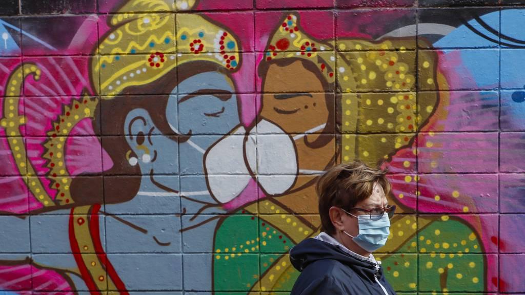Weltweite Graffitikunst während Corona-Pandemie