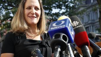 Die USA und Kanada sind zuversichtlich, die Verhandlungen um eine Neufassung des Freihandelsabkommens Nafta bald abschliessen zu können. Kanadas Aussenministerin Chrystia Freeland (Bild) betonte die Kompromissbereitschaft Mexikos.