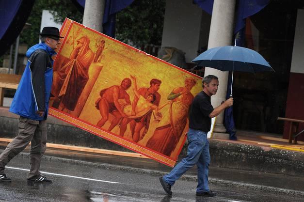 Auch Römische Kunst darf am Fest nicht fehlen.