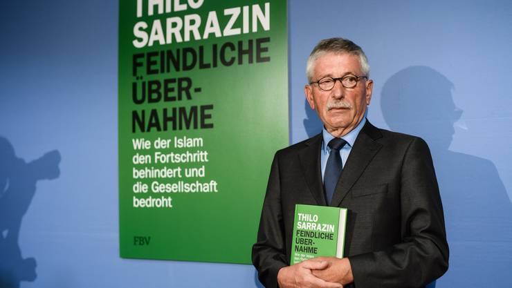 Thilo Sarrazin bei der Vorstellung seines Buchs am 30. August 2018 in Berlin.