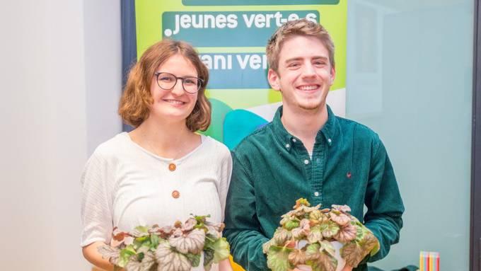 Julia Küng (19) und Oleg Gafner (18) besetzen neu das Präsidium der Jungen Grünen Schweiz.