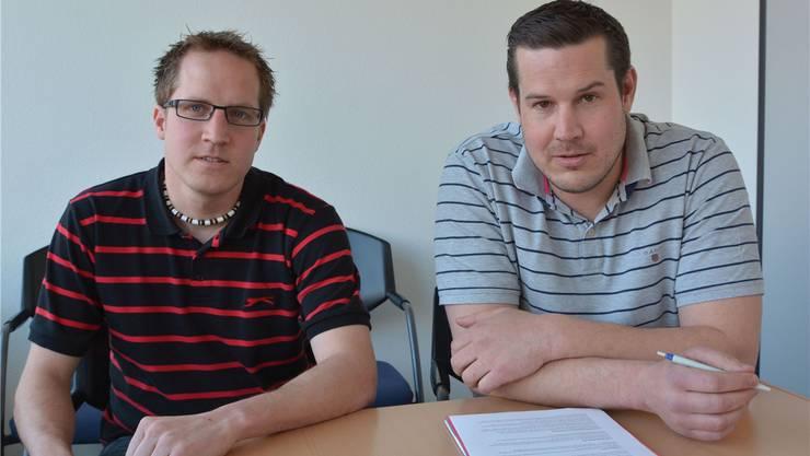 FC-Härkingen-Präsident Matthias Heim (rechts) und Spiko-Präsident Michael Heim stellten sich den Fragen.
