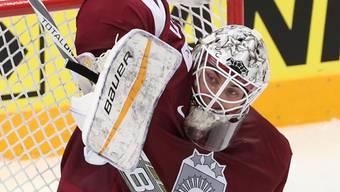 Elvis Merzlikins vom HC Lugano wurde nach dem Spiel als bester Spieler ausgezeichnet
