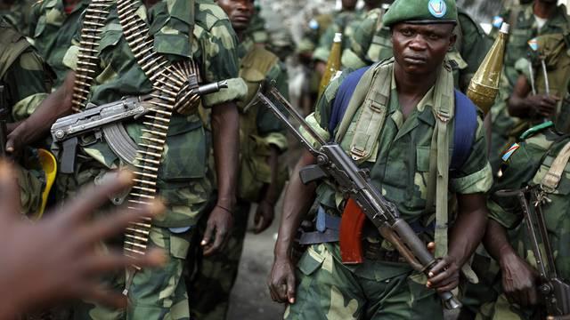 Kongolesische Soldaten im vom Bürgerkirieg geplagten Goma (Archiv)
