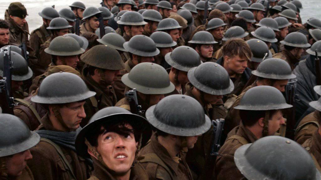 """Der Kriegsthriller """"Dunkirk"""" von Christopher Nolan hat am Wochenende vom 27. bis 30. Juli 2017 in der Deutschschweiz die Spitze der Kinocharts übernommen. (Archiv)"""