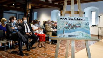 """Die Vernissage des Buch """"2000 Jahre Solothurn"""" fand im Musem Altes Zeughaus statt."""