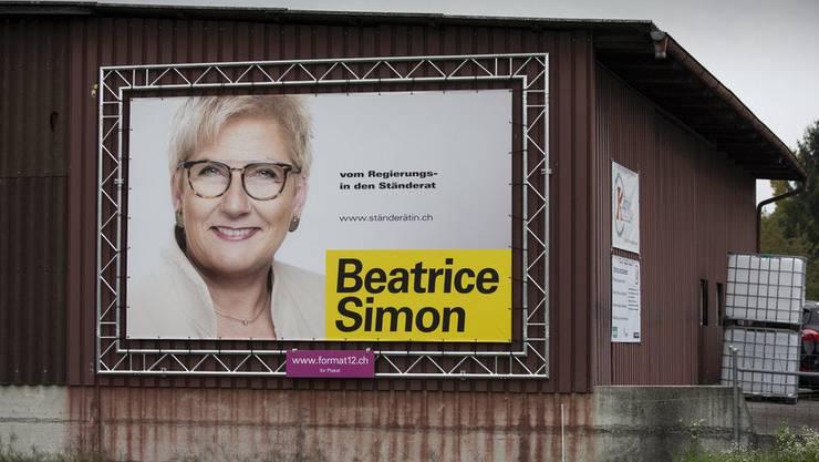 «Vom Regierungsrat in den Ständerat»: Mit diesem Slogan warb BDP-Politikerin Beatrice Simon während des Wahlkampfs. Nachdem es für den Ständerat nicht reichte, wollte sie auch nicht mehr in den Nationalrat.