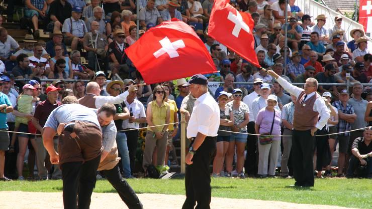 Impressionen vom Nordwestschweizer Schwingfest 2019 in Wittnau