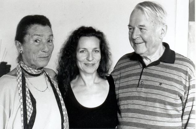 Lehrerin und Mentorin Susana, Choreografin und Tänzerin Brigitta Luisa Merki und der Komponist Antonio Robledo im Jahr 1994.