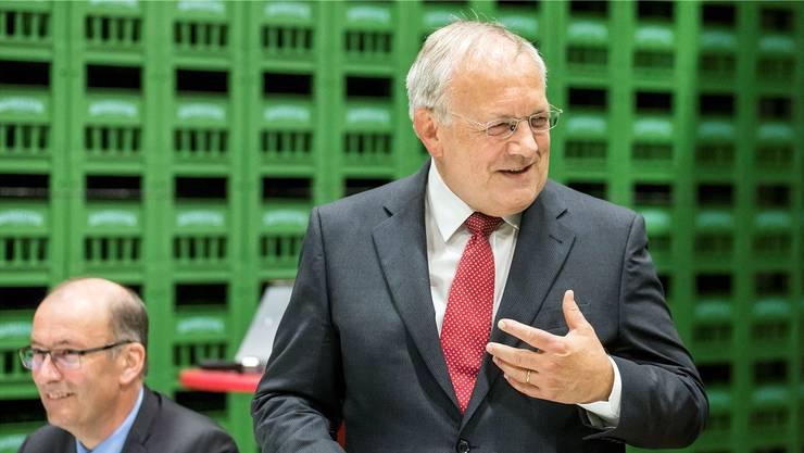 Bauernpräsident Markus Ritter und Wirtschaftsminister Johann Schneider-Ammann: Die gute Laune kehrt zurück, wenn das Abkommen ausgehandelt und vor allem für die Bauern auch akzeptabel ist.