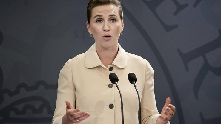 Die dänische Ministerpräsidentin Mette Frederiksen. Foto: Liselotte Sabroe/Ritzau Scanpix Foto/AP/dpa