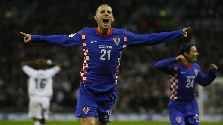 Petric jubelt: Er schiesst Kroatien mit seinem Tor gegen England an die EM 2008.
