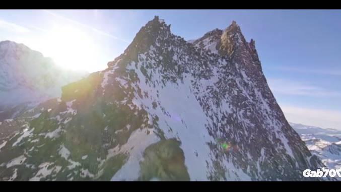 Nicht nur hübsch, sondern atemberaubend: Der Drohnenflug über das Walliser Hübschhorn